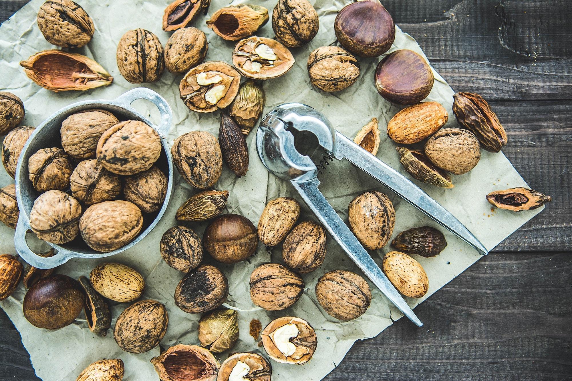 Nueces - como tostar semillas y frutos secos